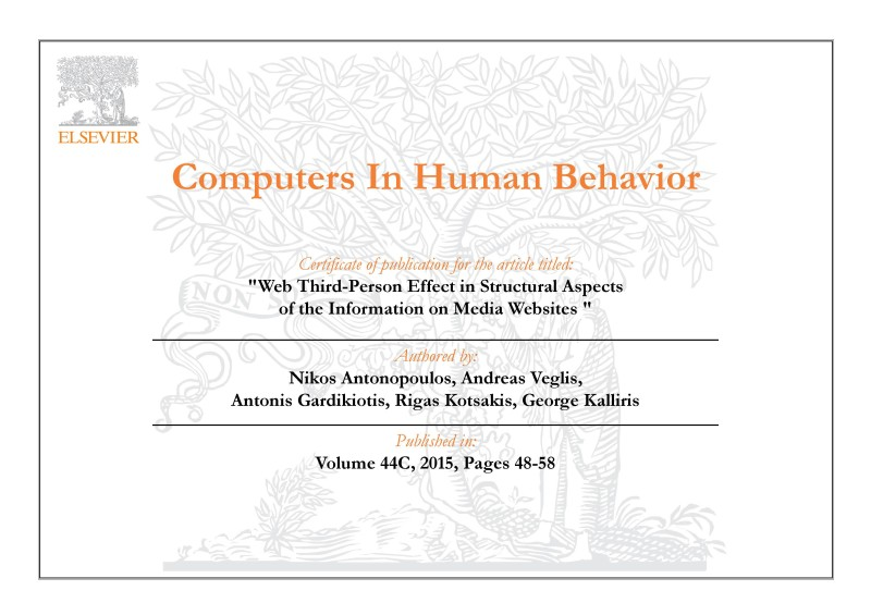 ELSEVIER COMPUTERS IN HUMAN BEHAVIOUR